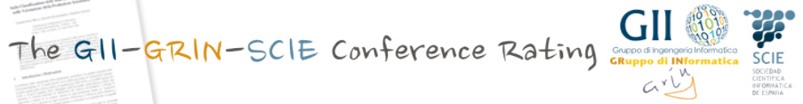 GII-GRIN-SCIE (GGS) Conference Rating